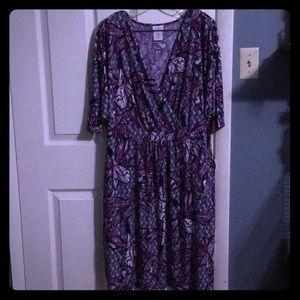 Purple print dress